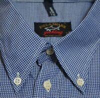 Paul & Shark Yachting Blue Cotton Button Down Shirt Made Italy M's 17 1/2 44