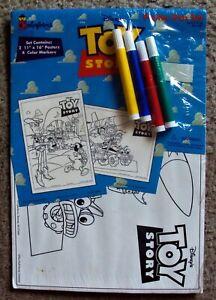 TOY STORY Colorforms POSTER PEN SET Buzz Lightyear SHERIFF WOODY Disney/PIXAR 96