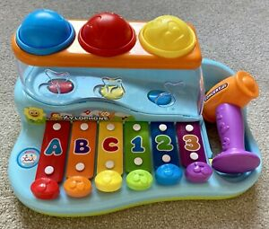 CONCERT JOY Baby Toddler Toy Xylophone With Ball Drop And Hammer