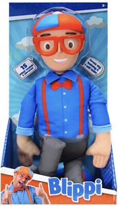 """My Buddy Blippi Deluxe Talking 16"""" Plush Doll Toy 15 Sounds & Phrases - New"""