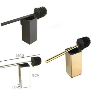 Bathroom Square SUS304 Gold, Black Toilet Brush Holder Set Wall Mounted New 2020