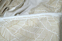 """Schumacher Abstract Leaf Taupe Fabric 54"""" wide, sold by yard"""