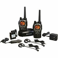 Midland GXT1000VP4 36-Mile 50-Channel FRS/GMRS Two-Way Radio Pair Black/Silver