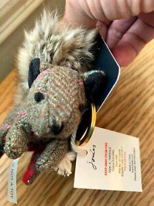 Joules Tweedle Keyring Squirrel Tweed Keyring Multi, Bushy Tail  NEW Unused