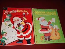 Vintage Watkins Strathmore Co Santa's Dot-to-Dot & Elephant books Activity Game