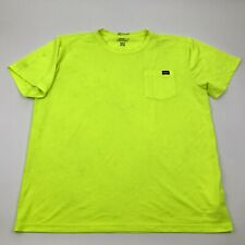 Dickies High Visibility Shirt Men's Size 2Xlt Xxlt Neon Green Short Sleeve Tee