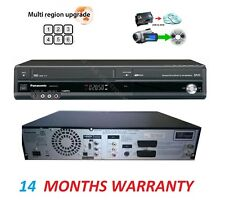 Panasonic Multi Region DMR-EZ47V DVD VCR VHS Recorder Combi Black Free 4k HDMI