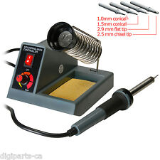 Variable Temperature Soldering Station, soldering iron with 4 extra tips 40W