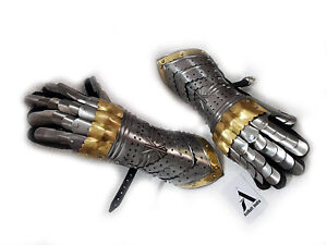Knight Medieval Armor Gauntlets  Gothic Templar Functional Armour Gloves