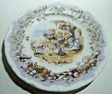 Royal Doulton Brambly Hedge, 6 1/4 Inch Plate, Meeting on the Sand