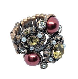 Fashion Ring Cocktail Ring Statement Ring Adjustable Ring Crystal Ring 2.5cm