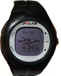 Black Polar F6 Watch Digital Fitnes Heart Rate Monitor Silver Face 50m Men Women