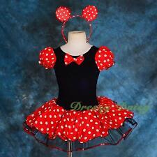 Minnie Mouse Tutu Dance Costume Fancy Party Dress up Headband Girl Size 4 Fc028