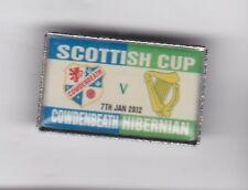 Cowdenbeath v Hibernian ( Scottish Cup 2012 ) - lapel badge brooch fitting