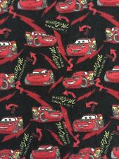 Disney Pixar Film Cars Packed McQueen Black Red (2) 3 Yards 40 Inches Wide