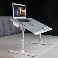 ERGONOMIC Adjustable Laptop Desk Bed Tray Sofa Desk Portable Drawer Book Holder
