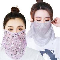 Women Sun Cover Ice Silk Outdoor Riding Shawl Face Neck Scarf Protection Bandana