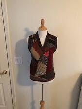 $380 DOLCE & GABBANA Brown Wool Blend Sleeveless Vest Sweater Pullover s. M