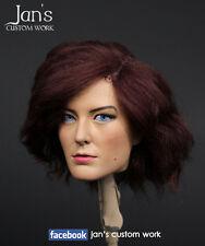 1/6 Hot CUSTOM REPAINT REHAIR toys female figure head sculpt kumik phicen girl