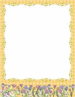 Easter Floral Rabbits Stationery Printer Paper 26 Sheets