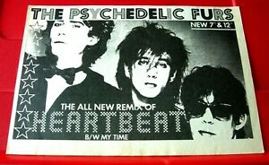 """The Psychedelic Furs Heartbeat Vintage ORIG 1984 Press/Magazine ADVERT 8.5""""x 6"""""""