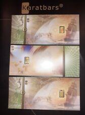 .999 Gold Nadir Karatbar 1/10 0.10 gram x3 (0.30 grams!) IN ASSAY NOTES +BONUS