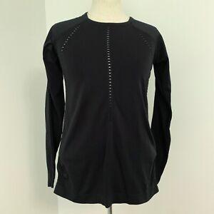 Athleta Foothill Long Sleeve Top, BLACK SIZE XSMALL #211280 79286 XS