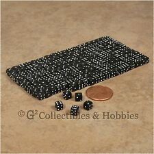 NEW 5mm 200 Black Mini Six Sided Dice Set RPG Game Miniature Tiny 3/16 inch D6