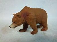"Tree House Kids Brown Bear Grizzly Wildlife Heavy Plastic Animal Figure 4.5"""