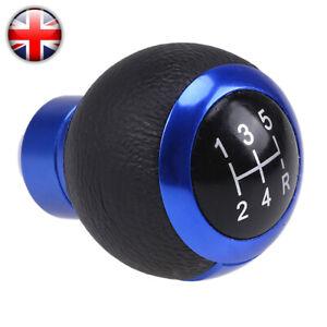 Universal Blue 5 Speed R Shift Knob Manual Gear Stick Shifter Lever Aluminum UK