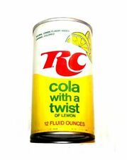 Vintage RC Cola Lemon Pull Tab Top Soda Pop Can A1 Pepsi Flat Cone Sign Coke Ofr