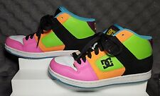 DC Women's Manteca 2 Mid Model Multi-Color Skateboarding Shoe 8.5 Sneakers