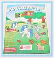 ❤️My Little Pony G1 Merchandise VTG 1990 Sticker Album Merlin Stickers❤️