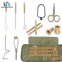 Maxcatch Fly Tying Tool Kit with Pouch Scissor Bobbin Hackle Plier Dubbing