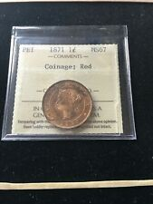 1871  Prince Edward Island ¢1 Cent, ICCS Graded, **MS-67** Coinage
