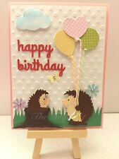 Handmade Birthday Card, Hedgehog 00006000 , Balloons