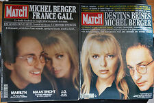 2 PARIS MATCH - FRANCE GALL-MICHEL BERGER 1992/1993 (34 pages)