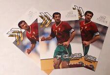Futera Platinum LUIS FIGO - WORLD STARS 2001 Portugal 3 cards