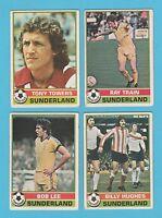 FOOTBALL - TOPPS  GUM  -  4  DIFFERENT  FOOTBALLERS  -  SUNDERLAND  -  1977