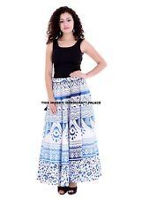 Ombre Mandala Indian Belly Dance Cotton Skirt Gypsy Hippie Party Wear Boho Dress