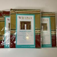 Waverly home classics beaded ascot valance set 3 52x20 rod pocket NWTs cream