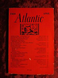 ATLANTIC Magazine April 1937 John Gunther Albert Jay Nock George E. Sokolsky
