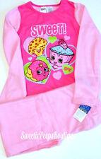 Shopkins Fleece Pajama Set Girls Size 10 12 Pink Sweet