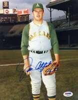 Jim Catfish Hunter Psa Dna Coa Autograph 8x10 A`s Photo  Hand Signed Authentic