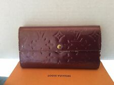 Louis Vuitton Sarah Large Wallet Clutch Vernis TH1038 Authentic Vintage