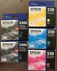 Lot+of+5%3A++2+Genuine+Epson+220XL+Black+Ink+%2B+1+220+Cyan+Magenta+Yellow+Free+Ship