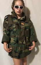 US MILITARY ARMY FIELD HOODED JACKET ALPHA INDUSTRIES INC. SIZE Large NEW $188