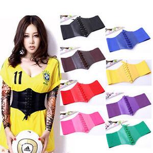 Women Ladies Girl Retro Fashion Wide Waist Belt Elastic Stretchy Band Girdle