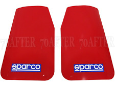 2 Sparco Car Mudflaps - RED - Wide Rally Sportsflaps