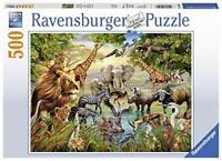 Ravensburger Jigsaw Puzzle MAJESTIC WATERING HOLE Wildlife 500 Piece